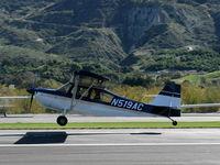 N519AC @ SZP - 2000 American Champion 7GCBC EXPLORER, Lycoming O-320 150 Hp, landing Rwy 04 - by Doug Robertson