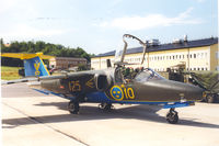 60125 - Swedish Air Force , Saab Sk60A. Skane Wing F10 at Angelholm , Jul 1999 - by Henk Geerlings