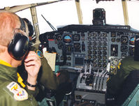 84007 - Swedish Air Force , Cockpit C-130H . 847, en route to F4 - by Henk Geerlings