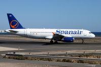 EC-JNC @ GCRR - Spanair's 2005 Airbus A320-232, c/n: 2589 sporting a different tail colour