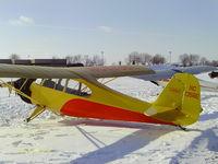 N1385E @ WS17 - On the ramp EAA Ski plane Fly-in - by steveowen