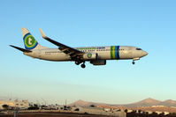 PH-HZK @ GCRR - Transavia's 2000 Boeing 737-8K2, c/n: 30390 at Lanzarote