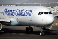 G-NIKO @ GCRR - Thos Cook 2000 Airbus A321-211, c/n: 1250 arrives at the holding point of Runway 03