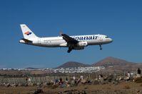 EC-HRP @ GCRR - Spanair 2000 Airbus A320-232, c/n: 1349 - by Terry Fletcher