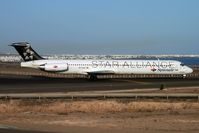EC-GXU @ GCRR - Spanair's 1988 McDonnell Douglas MD-83, c/n: 49622 wears Star Alliance colours