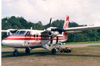 9M-MDL @ WBGC - Malaysian , Twin Otter at Belaga landing strip , 1988 - by Henk Geerlings