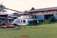 9M-AZL @ BLG - Sarawak ,  Belaga , Bell Jetranger , Aug '88 - by Henk Geerlings
