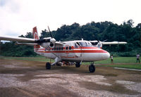 9M-MDL @ BLG - Malaysian Twin Otter , ready for departure to Kapit and Sibu , Sarawak , Aug 1988 - by Henk Geerlings