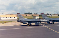 85-1422 @ EGVA - F-16C Falcon, callsign Cash 14, of 526th Tactical Fighter Squadron/86th Tactical Fighter Wing on the flight-line at the 1991 Intnl Air Tattoo at RAF Fairford. - by Peter Nicholson