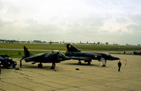 608 - Mirage IIIE of EC 2/4 French Air Force on the flight-line at the 1979 Intnl Air Tattoo at RAF Greenham Common. - by Peter Nicholson