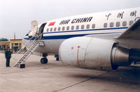 B-2535 @ ZLXY - Air China , Xian Airport, Jun '91 - by Henk Geerlings