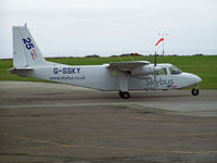 G-SSKY @ EGHC - Parked at Lands End - by Manxman