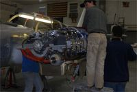 N123WM @ 6B0 - new engines going on. - by Jack Downey