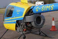 G-SIMS @ EGBG - 1990 Robinson Helicopter Co Inc ROBINSON R22 BETA, c/n: 1596