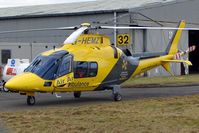 G-HEMZ @ EGNX - Latest Based helicopter for Derbyshire , Leicestershire and Rutland Air Ambulance