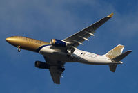 A9C-KE @ EGLL - Airbus A330-243 [334] (Gulf Air) Home~G 18/01/2011. Wearing F1 2011 titles. - by Ray Barber