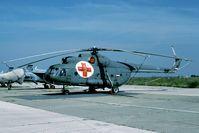 12267 @ LYBT - medivac version of the Mi-8 - by Joop de Groot