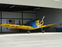 N13BT @ AJO - Parked in the hanger - by Helicopterfriend