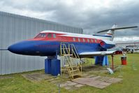 G-ARYB @ EGBE - De Havilland DH125 SERIES 1/521, c/n: 25002 Test Bed at Midland Air Museum