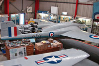 VF301 @ EGBE - De Havilland Vampire F.1 at Midland Air Museum