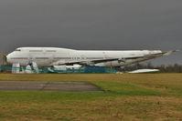 F-GITA @ EGBP - Scrapping of 1991 Boeing 747-428, c/n: 24969 now underway at Kemble