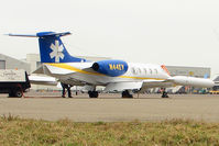 N44EV @ EGGW - Nice to see 35 year old Learjet 36A at Luton - by Terry Fletcher