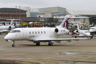 A7-CEC @ EGGW - Qatar Airways Executive's 2005 Bombardier Aircraft BD-100 Challenger 300, c/n: 20042 at Luton - by Terry Fletcher