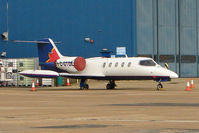 C-GTDE @ EGGW - 1976 Learjet 35, c/n: 057 at Luton - by Terry Fletcher