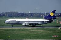 D-ADJO @ EDDL - old Lufthansa colours - by Joop de Groot