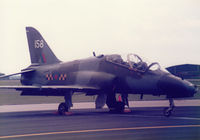XX158 @ MHZ - Hawk T.1 of 63 Squadron/2 Tactical Weapons Unit on the flight-line at the 1986 RAF Mildenhall Air Fete. - by Peter Nicholson