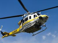 N110LA @ POC - Slowing down to turn right and enter LACO Fire helipad area - by Helicopterfriend