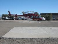 N507MT @ KTUS - Med Trans Lifeline helicopter at Med Trans hangar