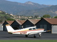 N7181P @ SZP - 1960 Piper PA-24-250 COMANCHE 250, Lycoming O-540-A1A5 250 Hp, landing roll Rwy 04 - by Doug Robertson