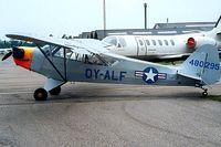 OY-ALF @ EKVJ - Piper J-3C-65 Cub [12591] Stauning~OY 10/06/2000.