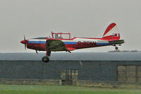 G-BCKN @ EGNF - 1952 De Havilland DHC-1 Chipmunk 22 (Lycoming), c/n: C1/0707 makes second attempt at landing in torrential rain at Netherthorpe
