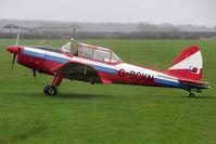 G-BCKN @ EGNF - 1952 De Havilland DHC-1 Chipmunk 22 (Lycoming), c/n: C1/0707 parks at Netherthorpe in torrential rain
