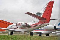 G-JBLZ @ EGGW - 2002 Cessna 550 Citation Bravo, c/n: 550-1018 on Stand 16 at Luton - by Terry Fletcher