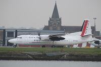 OO-VLE @ EGLC - Fokker F50