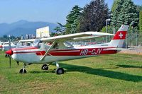 HB-CJV @ LSZA - R/Cessna F.152 [1564] Lugano~HB 21/07/2004 - by Ray Barber