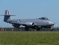 VH-MBX @ YMAV - Gloster Meteor F8 painted as A77-851 at Avalon International Air Show 2011 - by red750