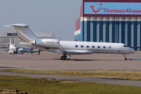 N185GA @ EGGW - 2008 Gulfstream Aerospace GV-SP (G550), c/n: 5185 at Luton - by Terry Fletcher