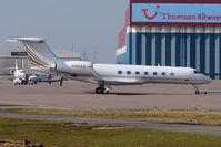 N185GA @ EGGW - 2008 Gulfstream Aerospace GV-SP (G550), c/n: 5185 at Luton - by Terry Fletcher