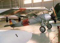 E-004 @ LEVS - Morane of the Spanish Air Force, preserved at the Spanish Aircraft Museum, 1996 - by G-ANWX