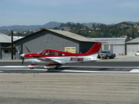 N111MB @ SZP - 1981 Piper PA-28-236 DAKOTA, Lycoming O-540-J3A5D 235 Hp, takeoff roll Rwy 22 - by Doug Robertson