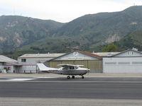 N74MM @ SZP - 1974 Cessna T210L TURBO CENTURION, Continental TSIO-520-R 310 Hp, takeoff roll Rwy 22 - by Doug Robertson