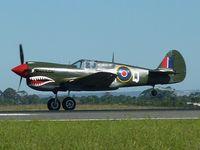 VH-ZOC @ YMAV - Warhawk VH-ZOC (GA-Q) with tail up on take-off roll, Avalon Air Show 2011