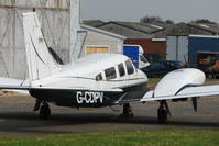 G-CDPV @ EGBJ - 1980 Piper PIPER PA-34-200T, c/n: 34-8070086 at Staverton
