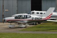 G-BNDR @ EGBJ - 1987 Soc De Construction D\'avions De Tourisme Et D\'affaires SOCATA TB10, c/n: 740 at Staverton