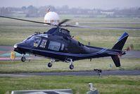 G-MDPI @ EGBJ - 1987 Agusta A-109A-2, c/n: 7393 at Staverton