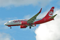 D-ABLD @ EGCC - Air Berlin's 2008 Boeing 737-76J/W, c/n: 36117 making its first visit to Manchester (UK)